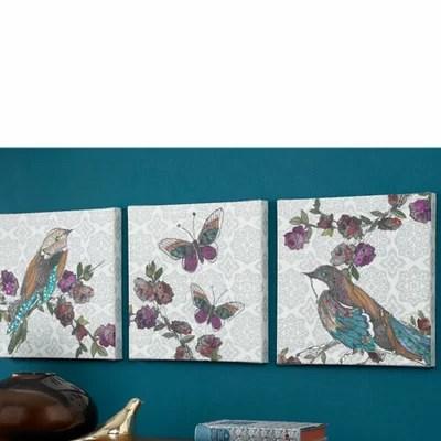 Graham & Brown Bird 3 Piece Graphic Art on Canvas Set