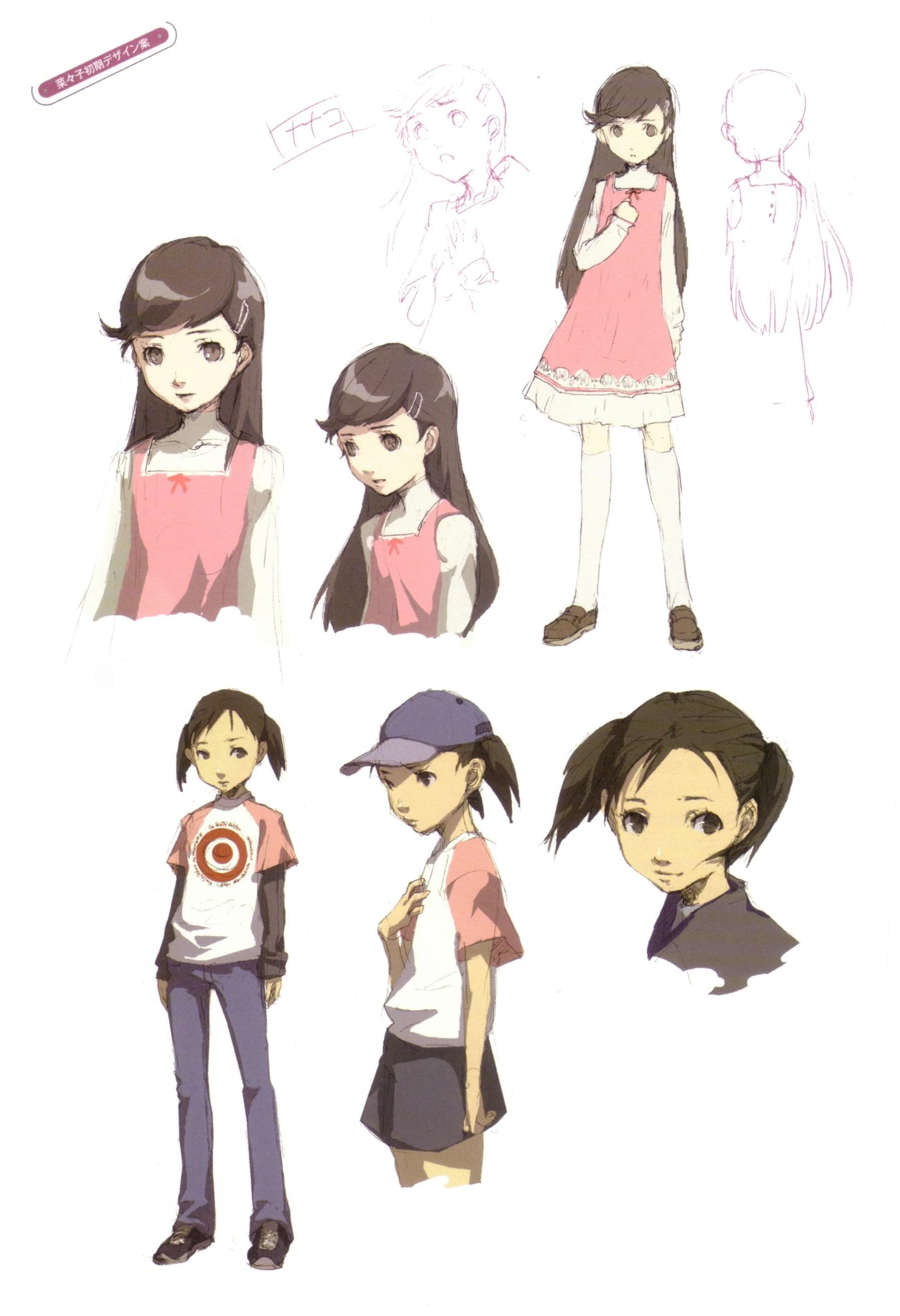 Persona 4 Cute Chie Wallpaper Nanako Concept2