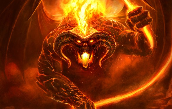 3d Wallpaper Amazon Fire Phone Wallpaper Figure Fire Monster The Lord Of The Rings