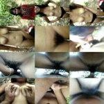 Desi college lovers BJ & fucking in forest
