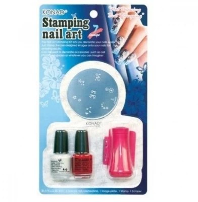 39 Off On Konad Stamping Nail Art Set D White On