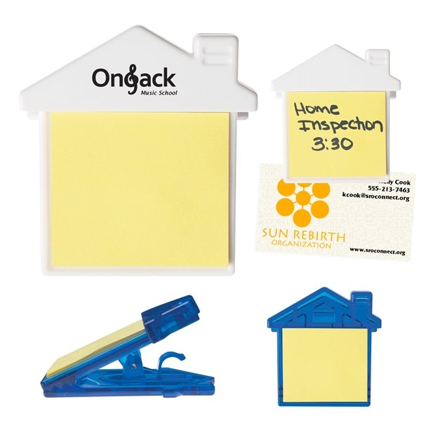 House Clip With Sticky Notes - Custom Products Note Pads  Cubes
