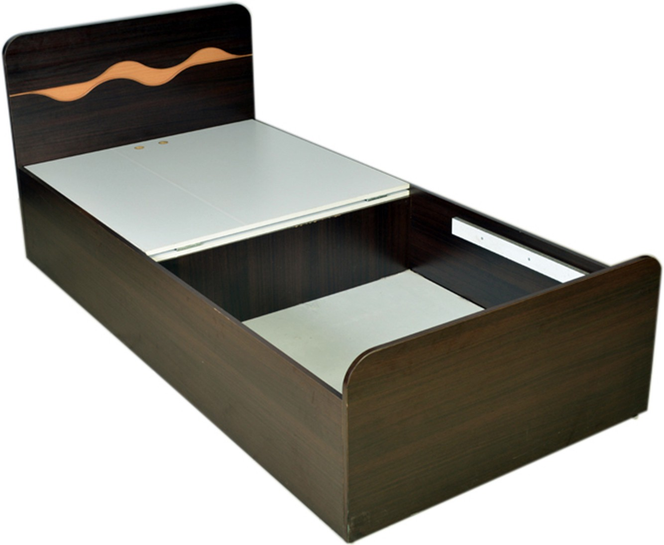 Single Bed Price Hometown Swirl Single Engineered Wood Single Bed With