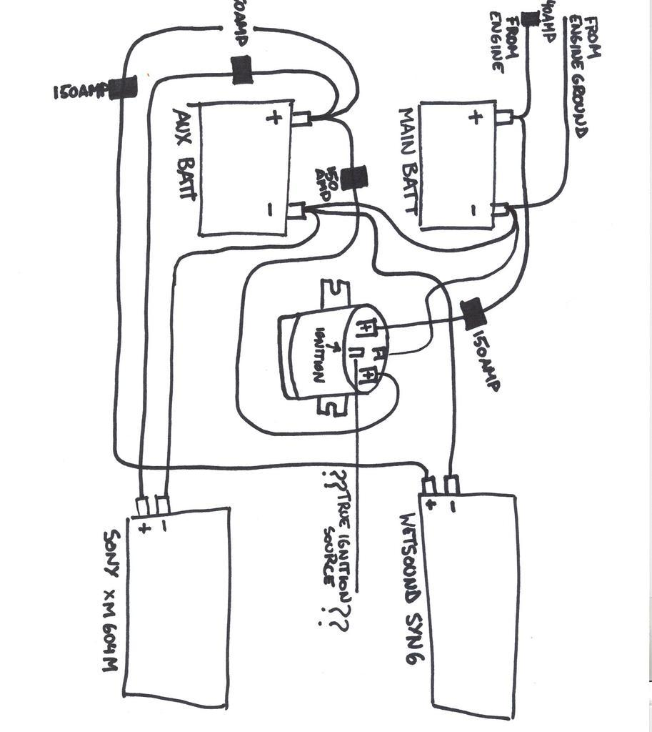 boat battery isolator wiring diagram