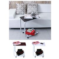 Rolling Laptop Table Multi Uses Moving Desk Bedside Table ...