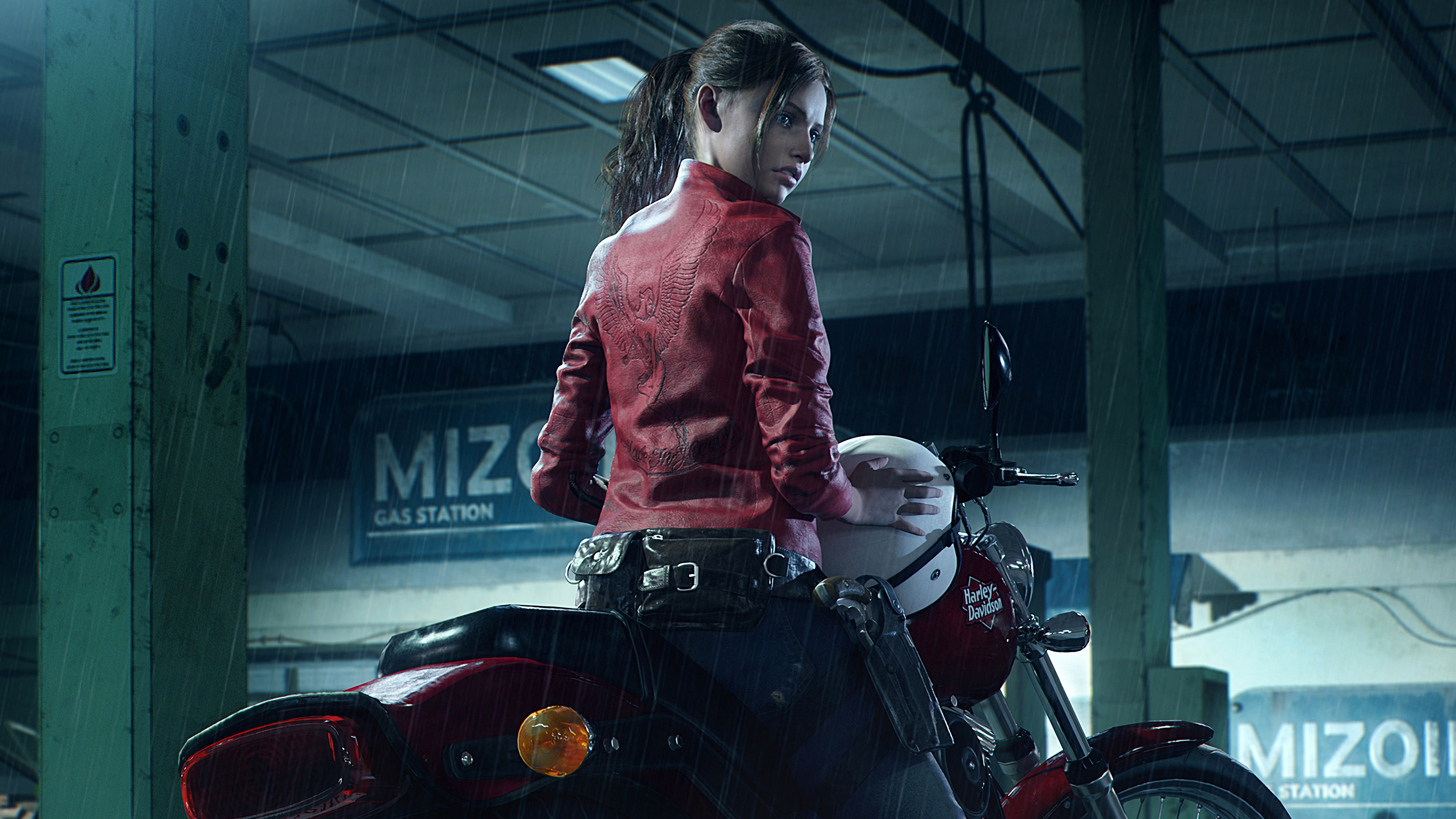 Leon S Kennedy Hd Wallpaper Resident Evil 2 Remake 4k 8k Hd Wallpaper