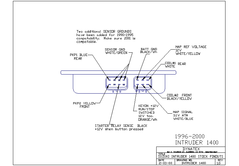2001 Suzuki Intruder 1400 Wiring Diagram - wiring diagrams image