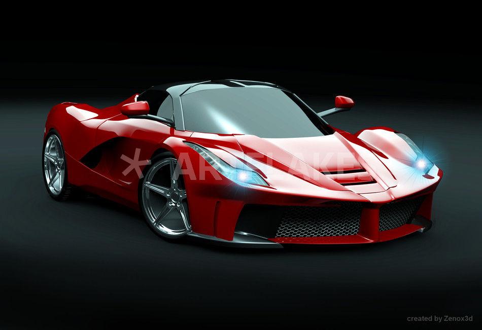 Super Cars 3d Wallpapers Quot La Ferrari Supercar Restyled Quot Digital Art Art Prints And