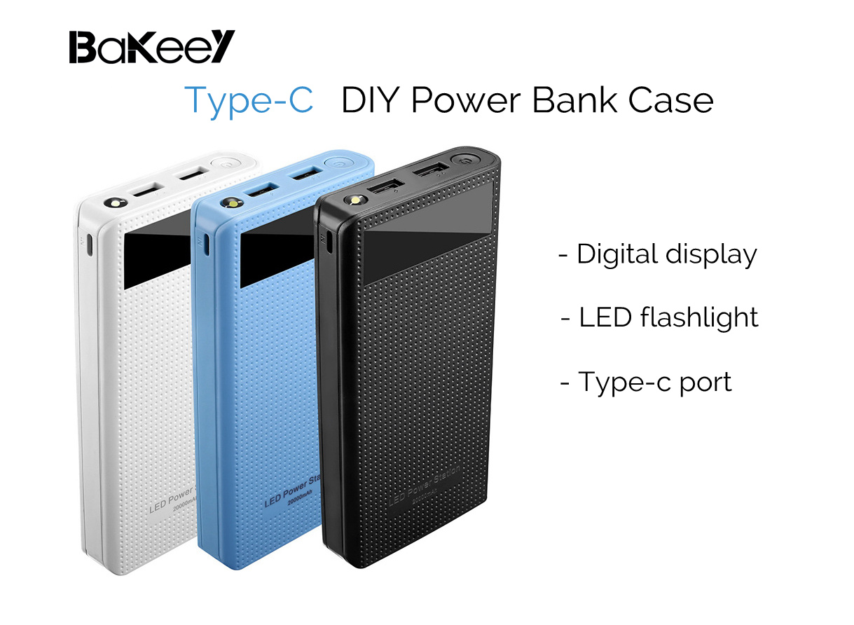 Diy Power Bank Bakeey Type C 7x18650 Battery Dual Usb Diy Power Bank Case Kit Box For Smartphone