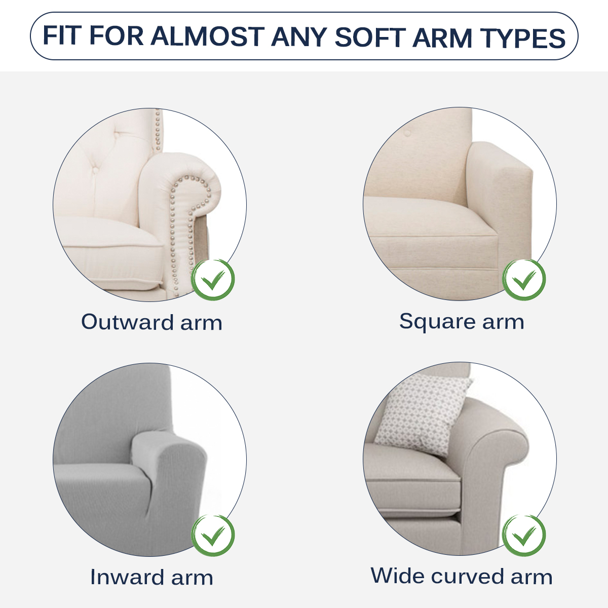2pcs Stretch Furniture Armrest Covers Waterproof Sofa Couch Slipcovers Sofa Ebay