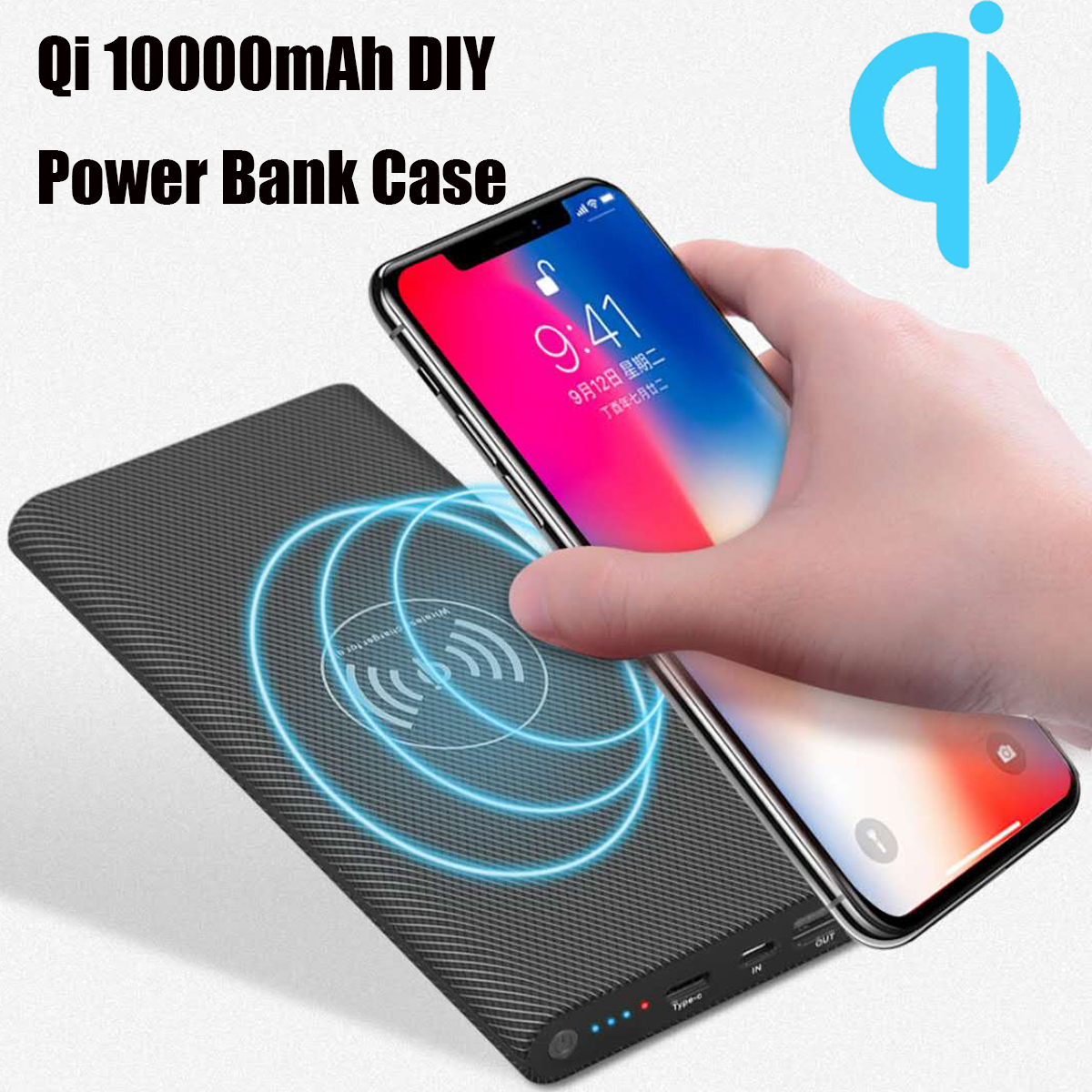 Diy Power Bank Bakeey Qi Wireless Charging Diy Power Bank Case 10000mah For Iphone X 8 S9 S8