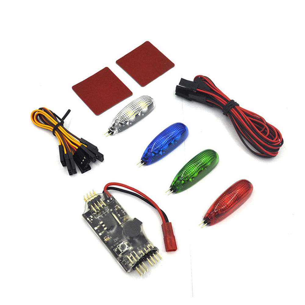 12v Led Controller 4 Pcs 12v Rc Night Light W Led Controller Board Built In Buzzer 2 6s Input For Rc Racing Drone