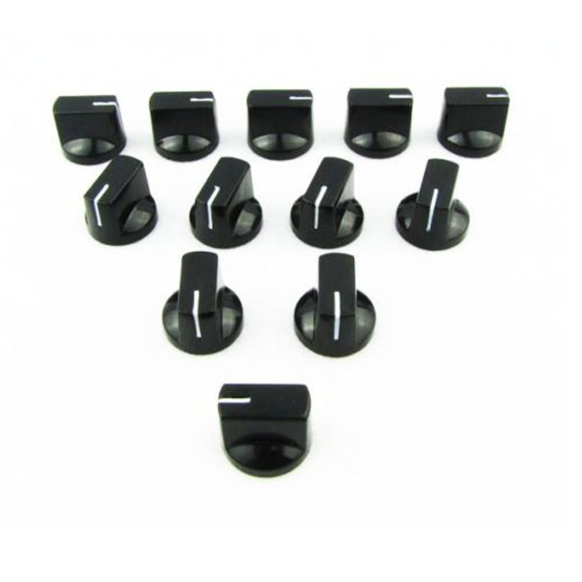 24pcs Plastic Amp Knobs Guitar Effect Pedal Knobs Flat Pointer - Plastic Knobs