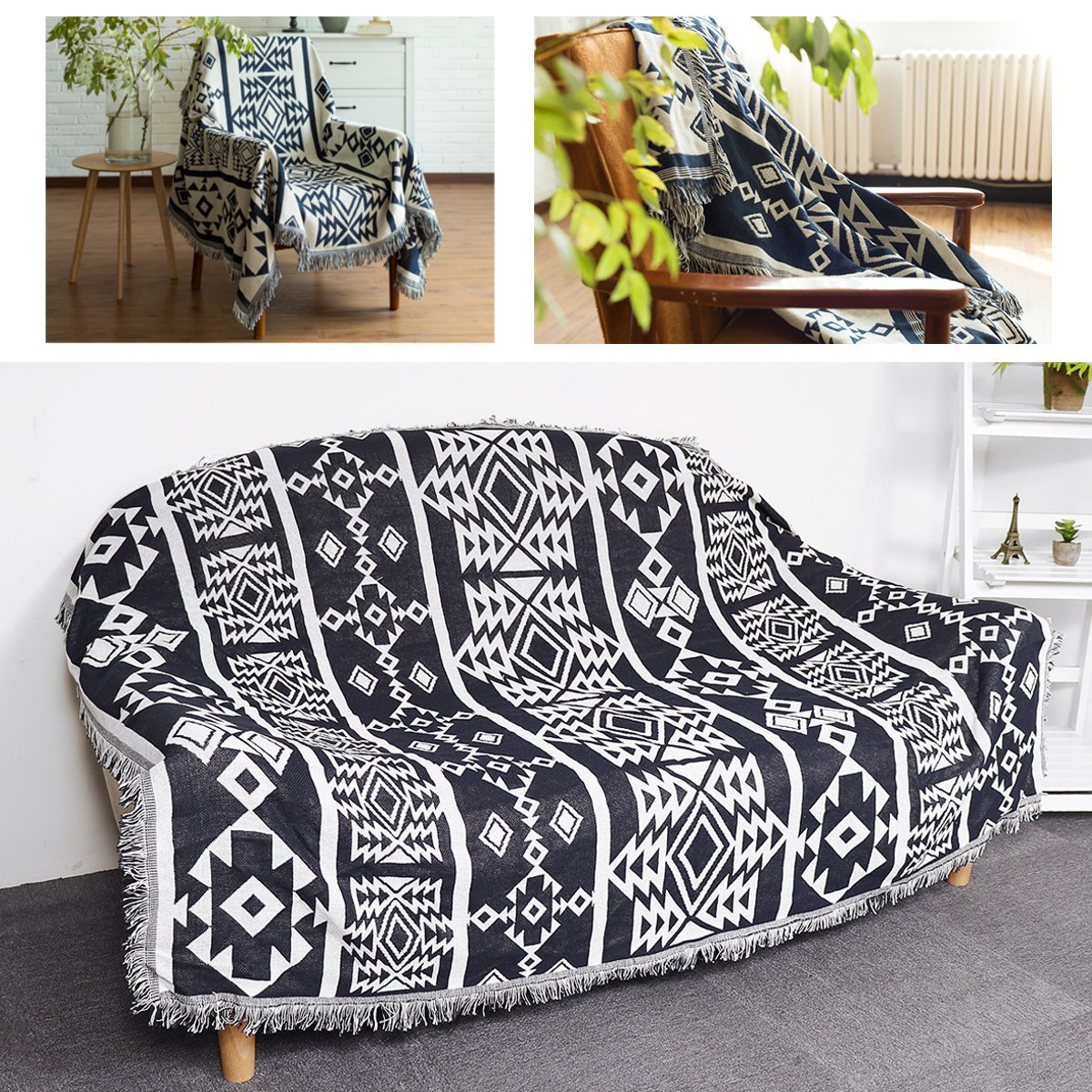 Lounge Throw New Bohemian Boho Sofa Throw Rug Couch Lounge Sofa Chair Blanket Bed Sheet
