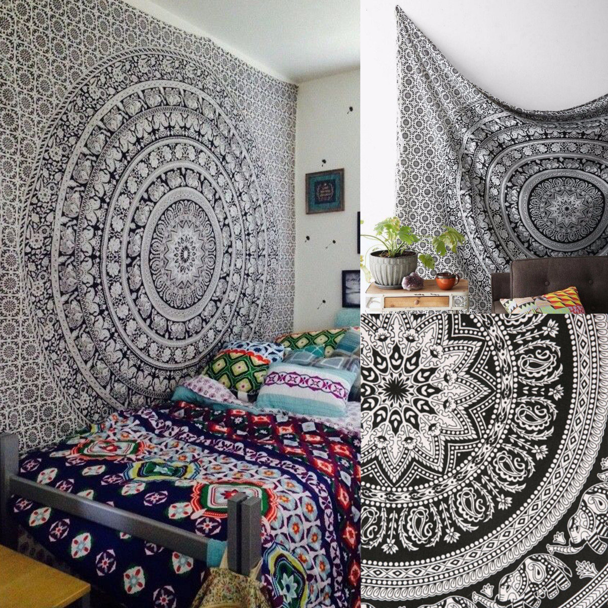 Camera Da Letto Hippie 145x210cm Ciondolo Decorativo Giapponese Con Copriletto Hippie Twin