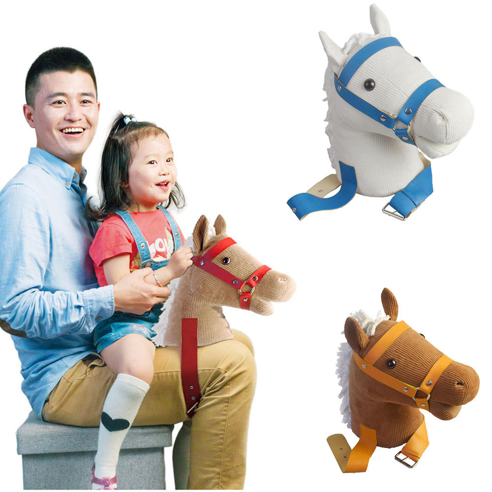 Babies Interactive Toys Mofun Happy Horse Parent Child Interactive Riding Toys Emotional Companion Plush Toy For Children
