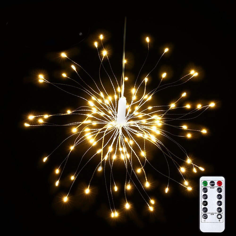 Diy Mode Usb Powered 8 Mode 150 Led Diy Firework Starburst Fairy String Light Remote Control Christmas Decor