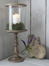 Danish Wooden Hurricane Lamp - Nordic House