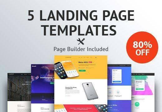 5 Premium Landing Page Templates for Only $19 - InkyDeals