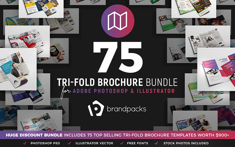 75-in-1 Trifold Brochure Bundle - InkyDeals