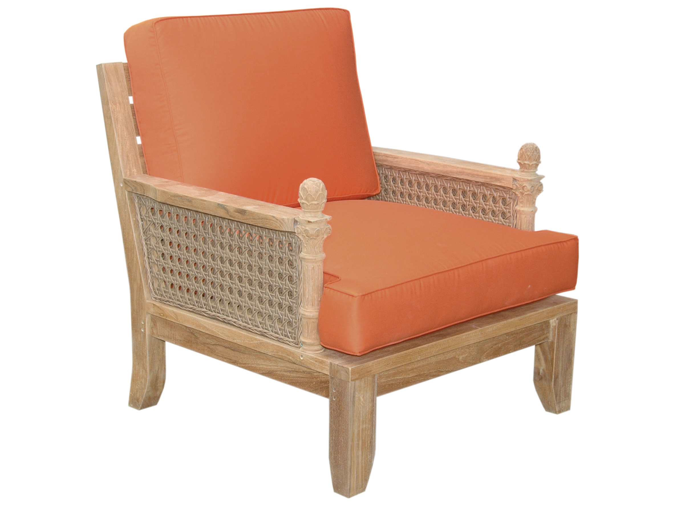 Teak Sessel Danish Teak Armchair Cushions Teak Armchair Including Full Sunbrella