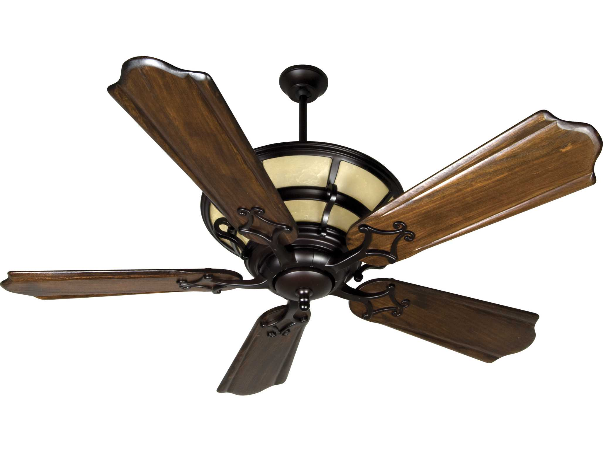 Custom Paddle Fans Craftmade Hathaway Oiled Bronze Six Light 56 Inch Wide