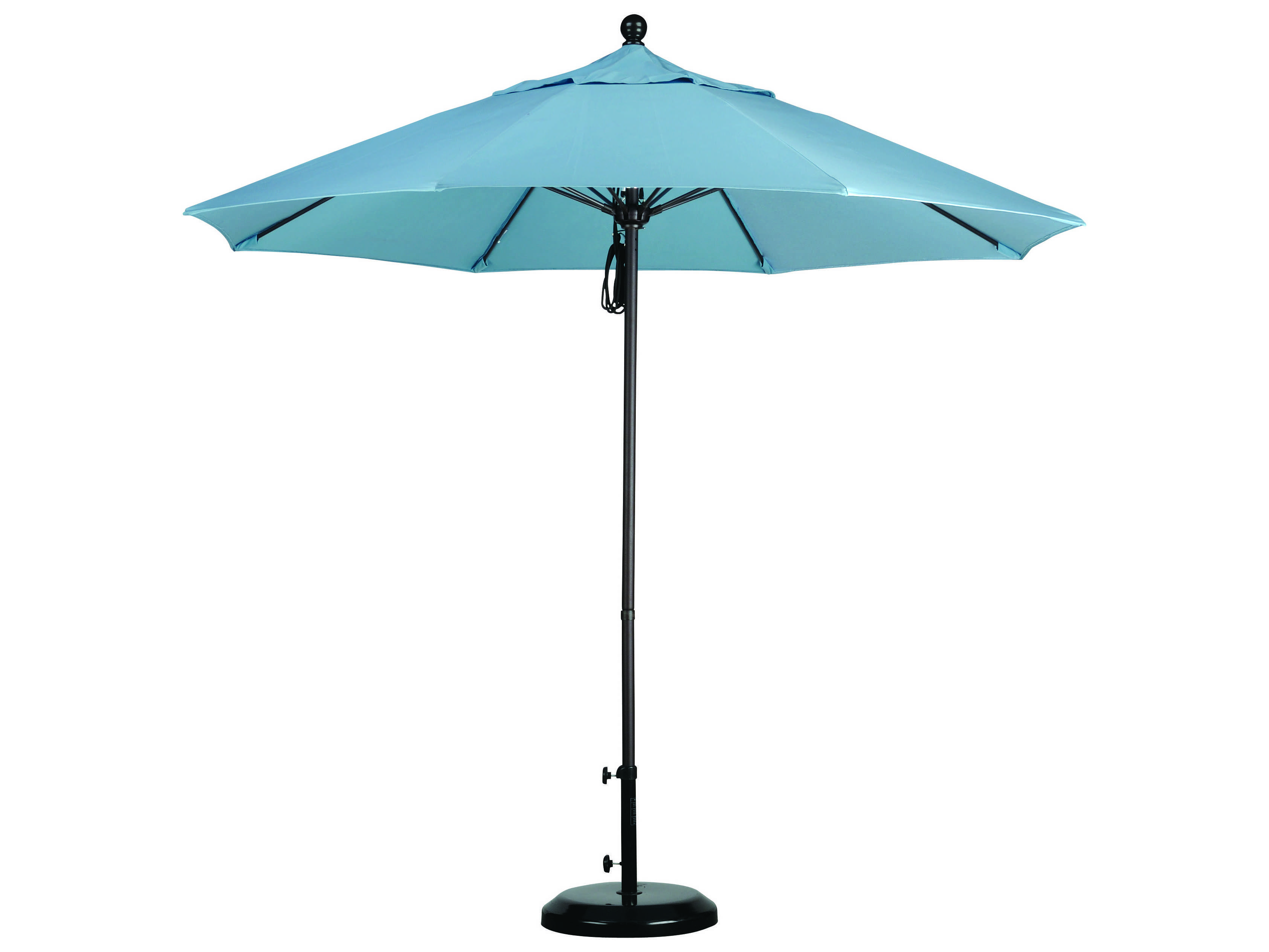 Caluco 9 Commercial Grade Umbrella With Sunbrella Canopy