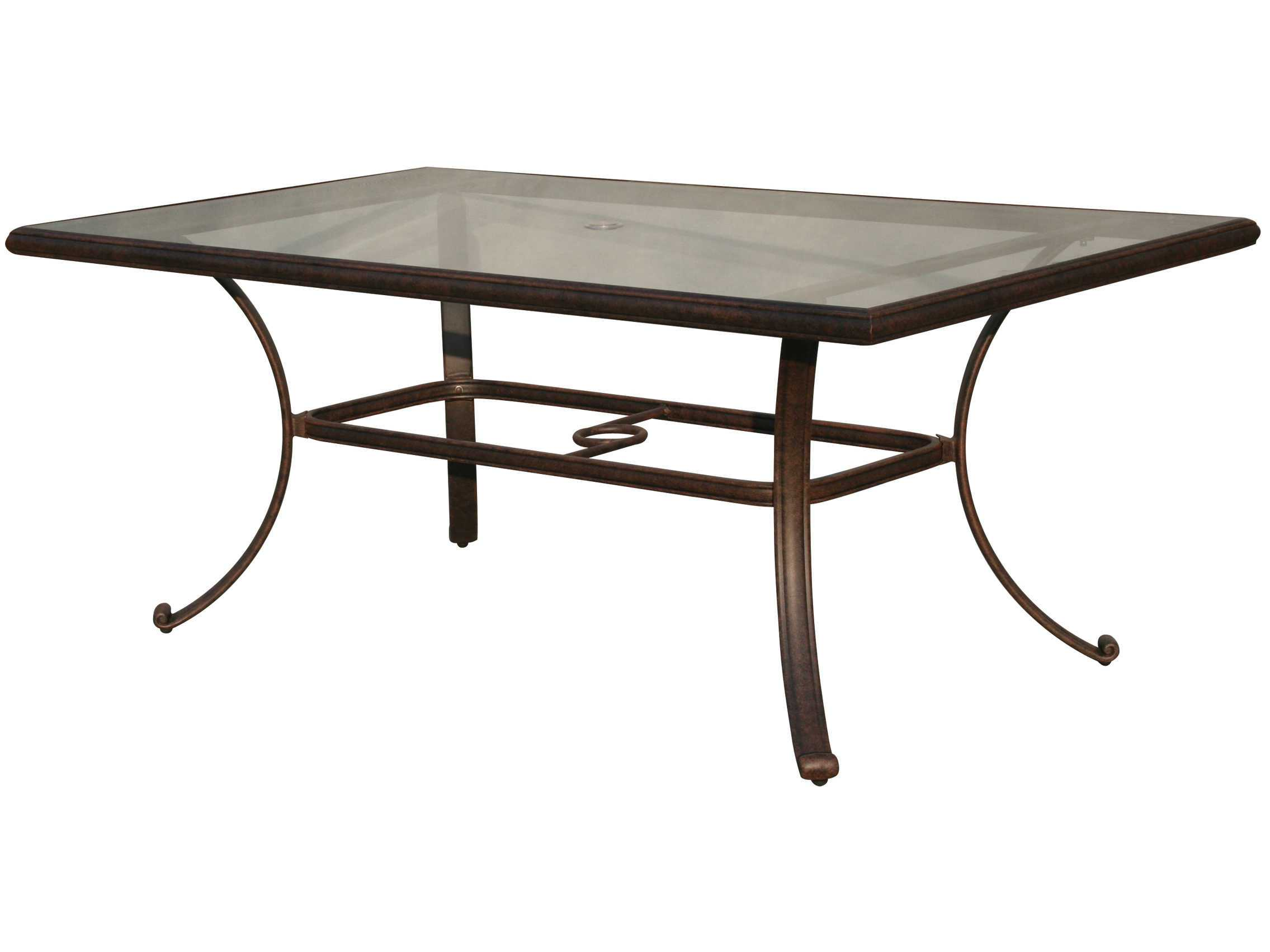 Porch Table Darlee Outdoor Living Glass Top Cast Aluminum Antique
