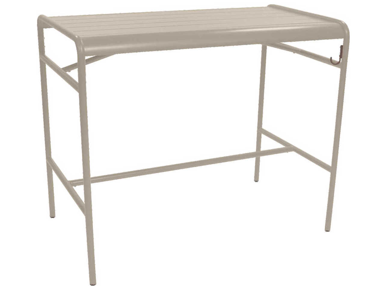 Table Luxembourg Fermob Luxembourg 50 Wide Aluminum Rectangular Bar Table