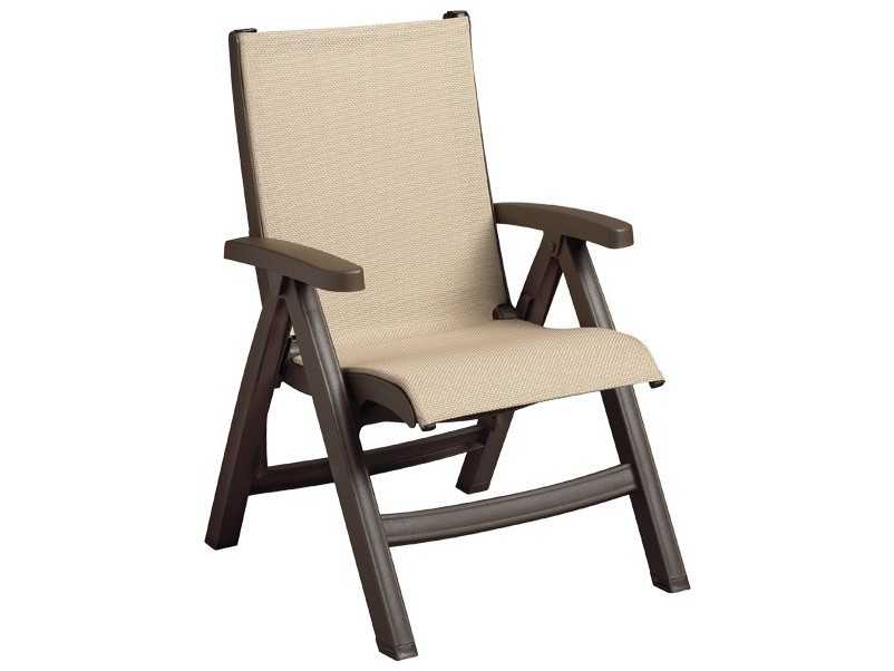 Grosfillex Belize Sling Midback Folding Chair Sold In 2