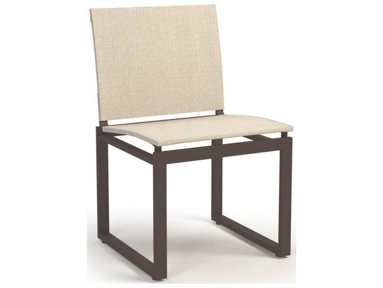 Homecrest Allure Aluminum Sling Armless Cafe Chair 11350