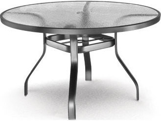 Homecrest Glass Aluminum 48 Round Dining Table With
