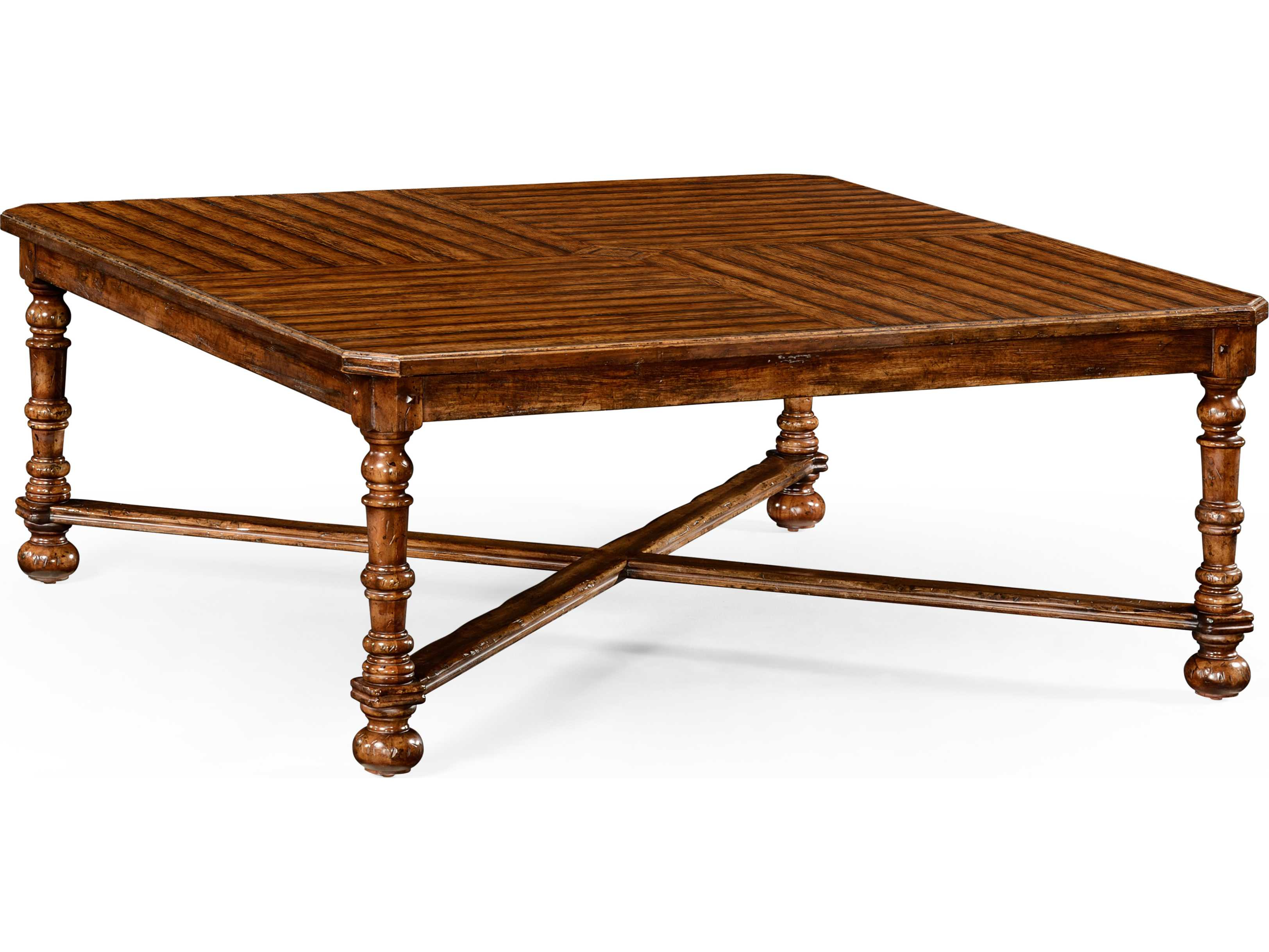 50 Square Coffee Table Jonathan Charles Huntingdon Country Farmhouse Walnut 50