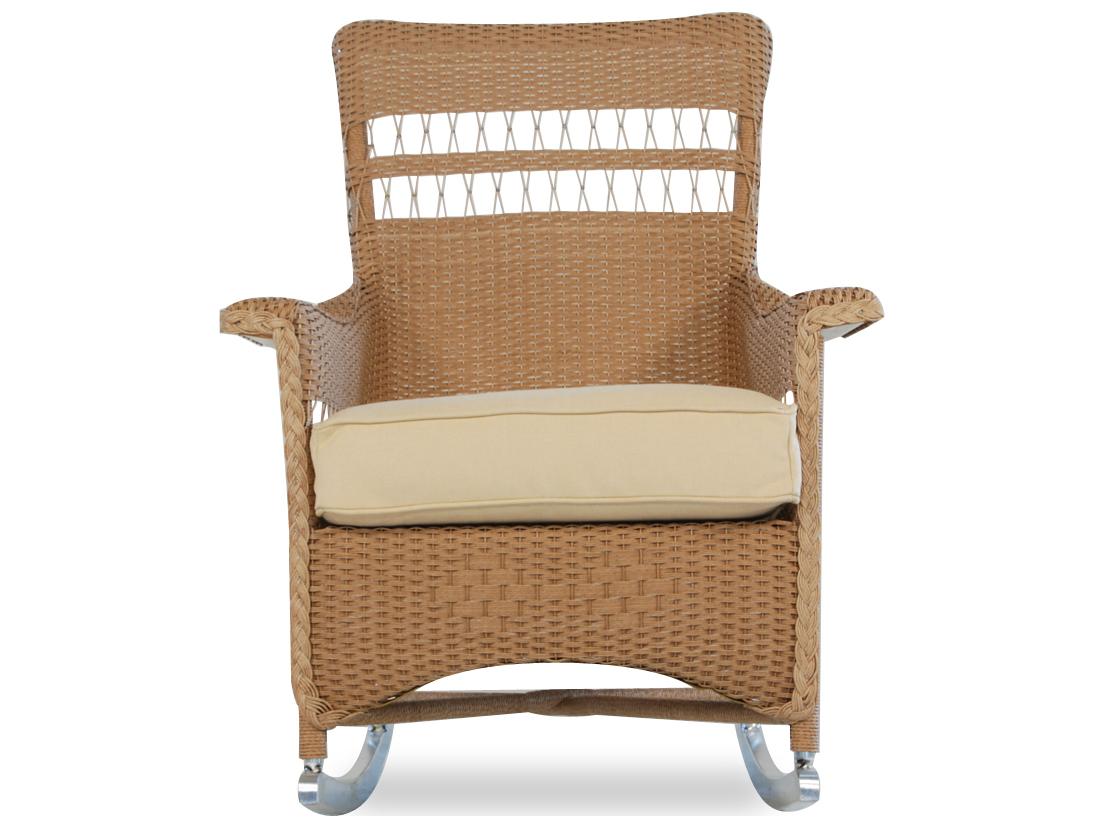 Lloyd Flanders Nantucket Wicker Rocker Lounge Chair 51036
