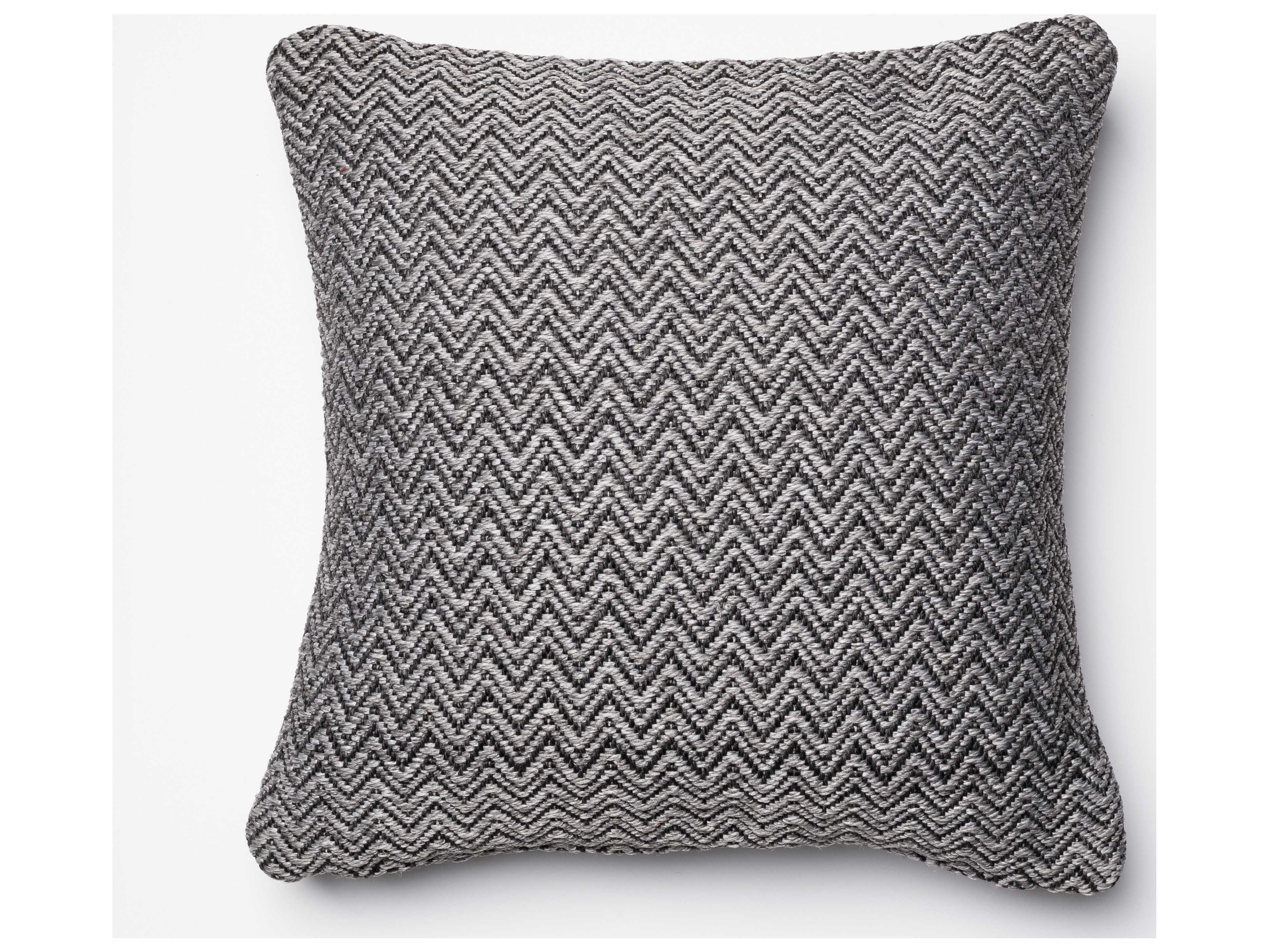 Loloi Rugs 18'' Square Charcoal & Grey Pillow