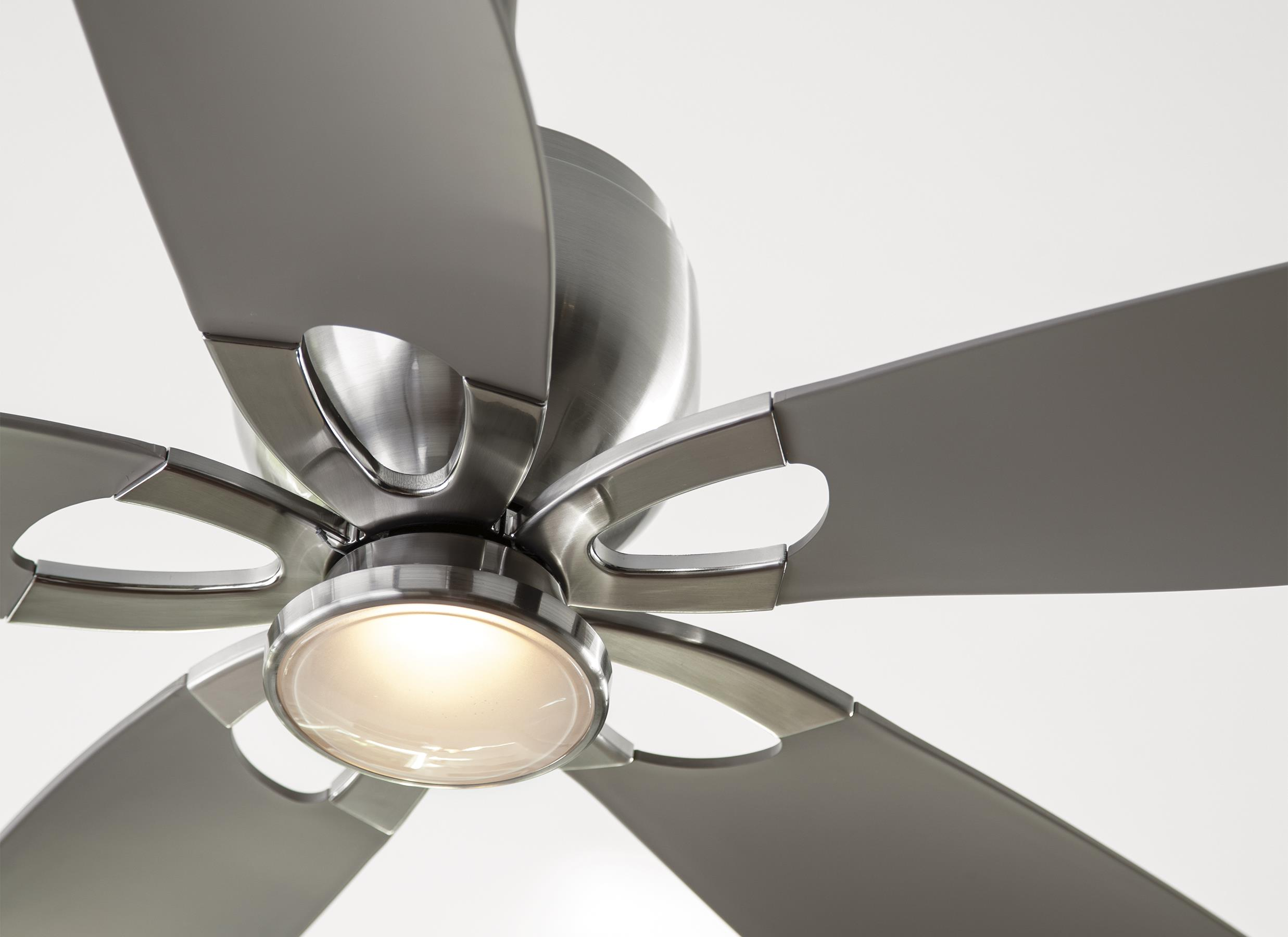 Silver Outdoor Ceiling Fans Monte Carlo Fans Lily Brushed Steel 56 39 39 Wide Led Indoor