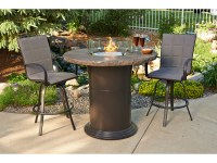 Outdoor GreatRoom Colonial Fberglass 48 Round Fire Pit Pub ...