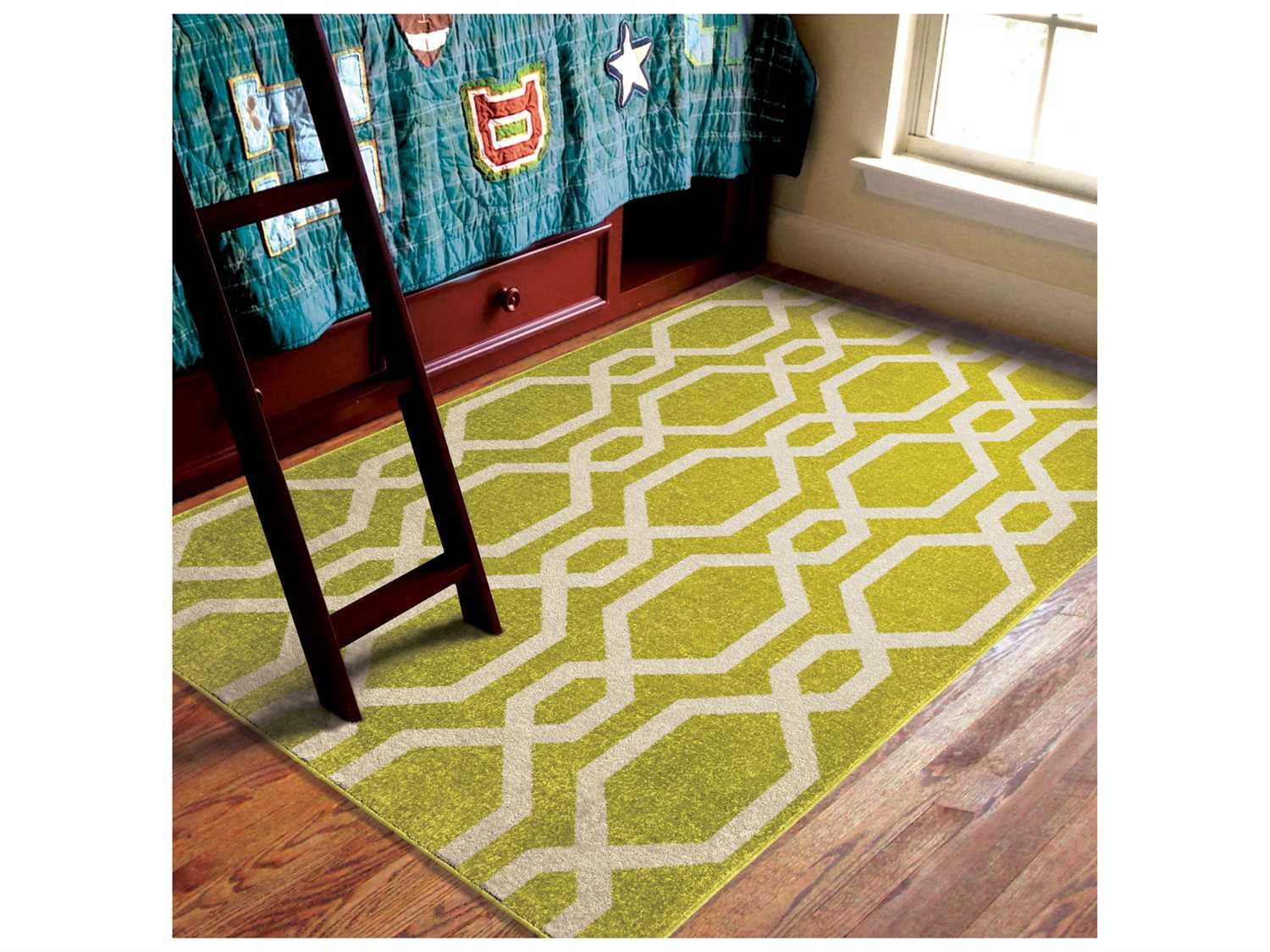 Rugs For Kids Orian Rugs Kids Court Niagra Lime Green Rectangular Area Rug
