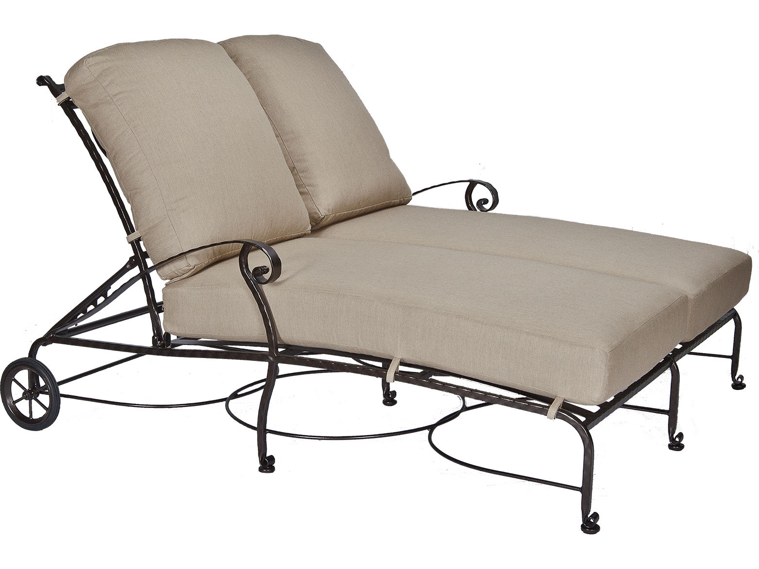 Ow Lee San Cristobal Wrought Iron Double Chaise Lounge
