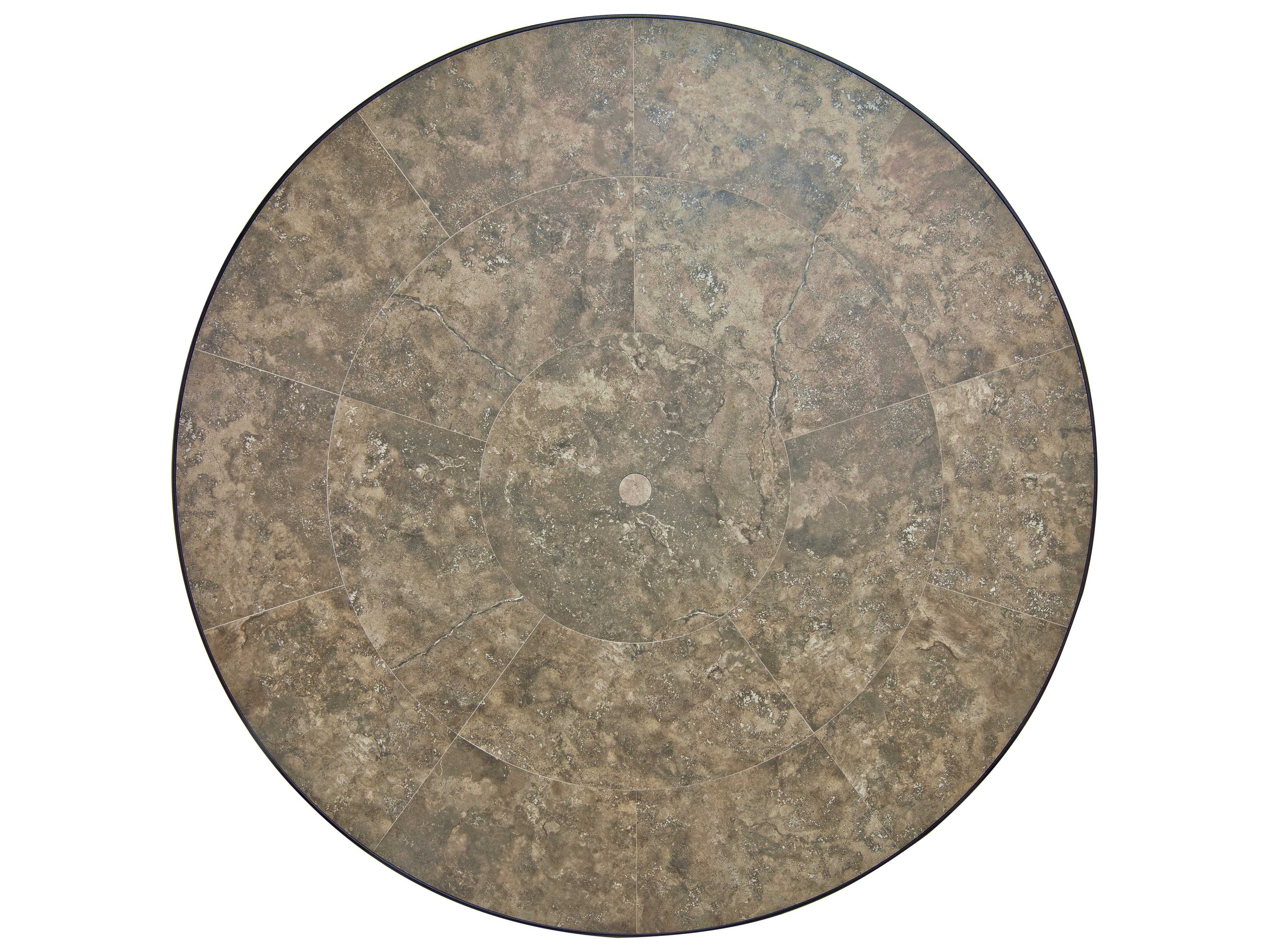 Round Table Tops Ow Lee Porcelain Tile 54 Round Table Top With Umbrella