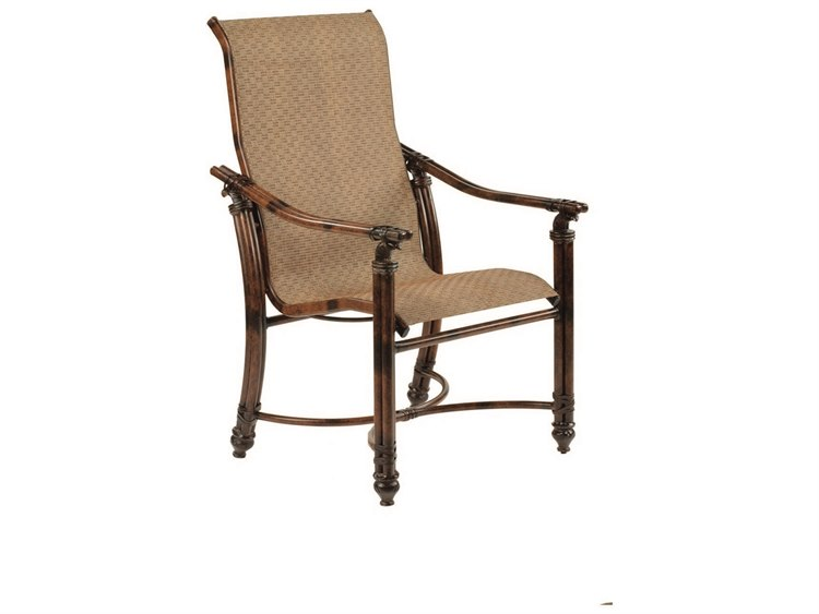 Castelle Coco Isle Sling Cast Aluminum Dining Chair 8896
