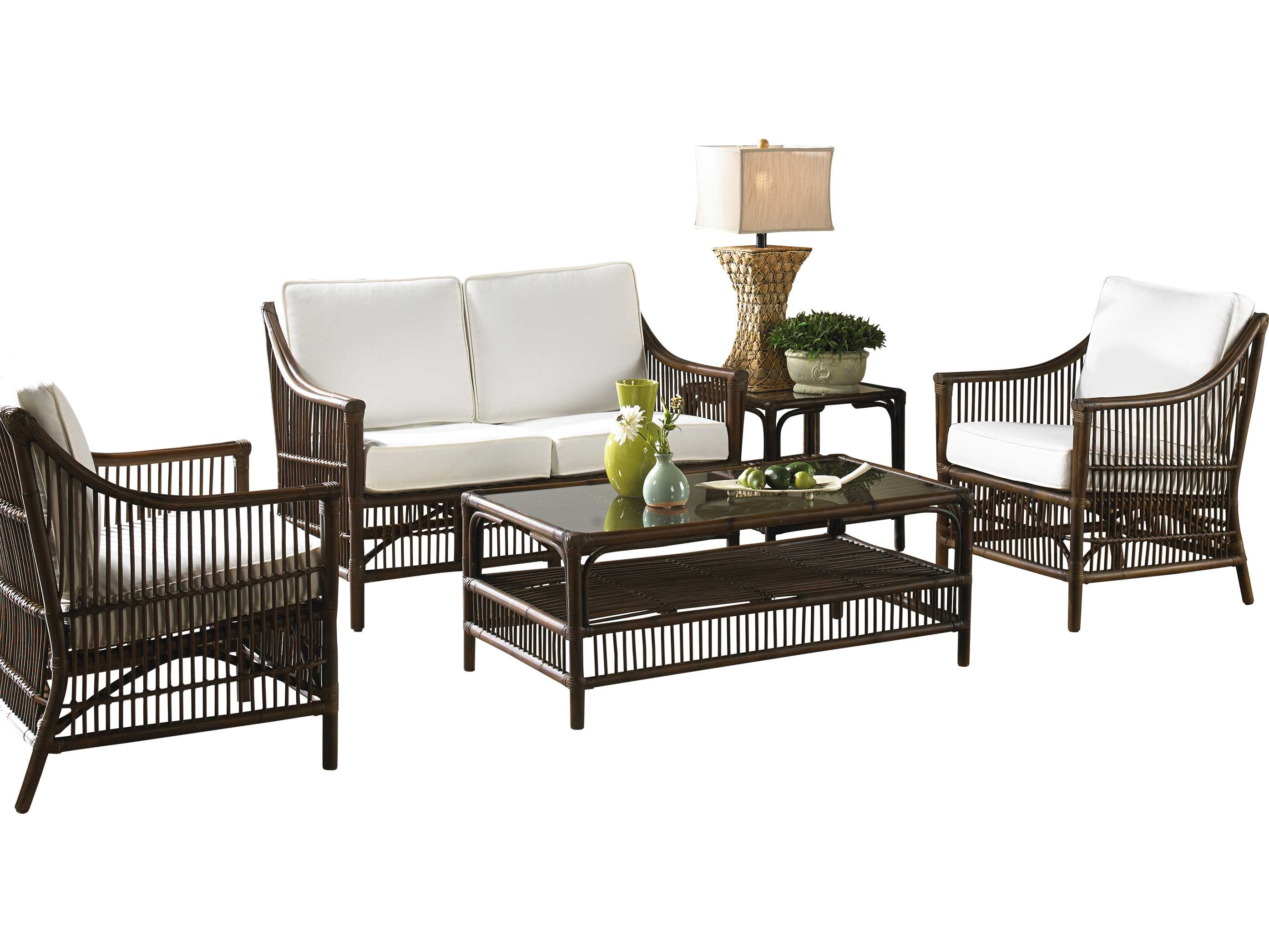 Panama Jack Bora Bora Wicker 5 Piece Lounge Set 5 Pcpjs