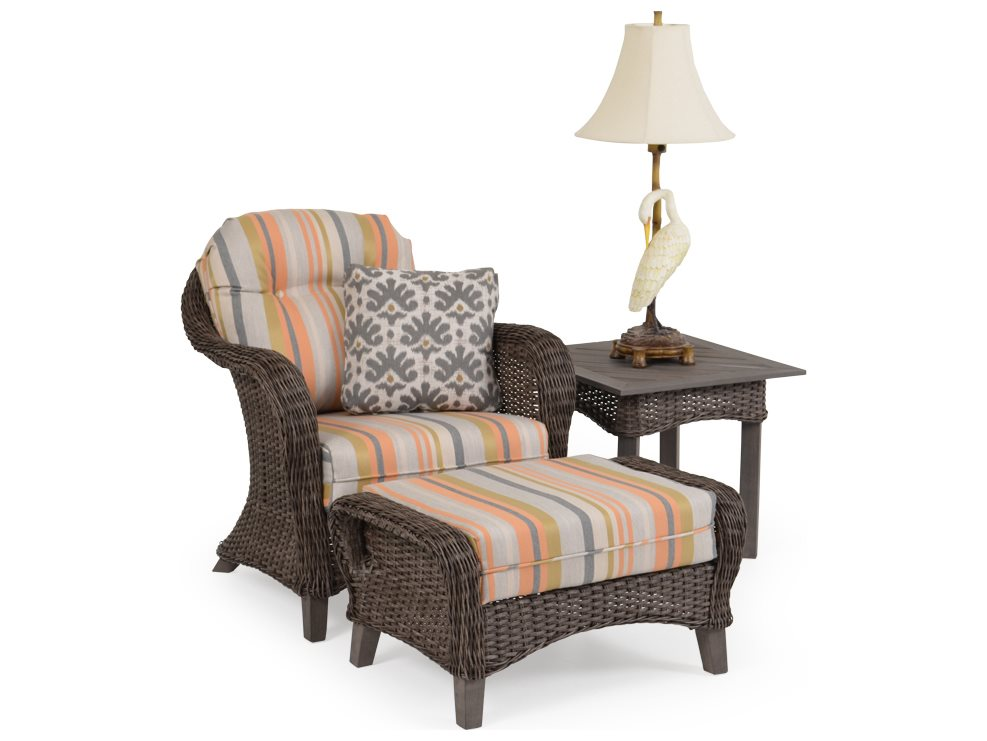 Palm Springs Rattan 6500 Series Wicker Lounge Chair 6500set6