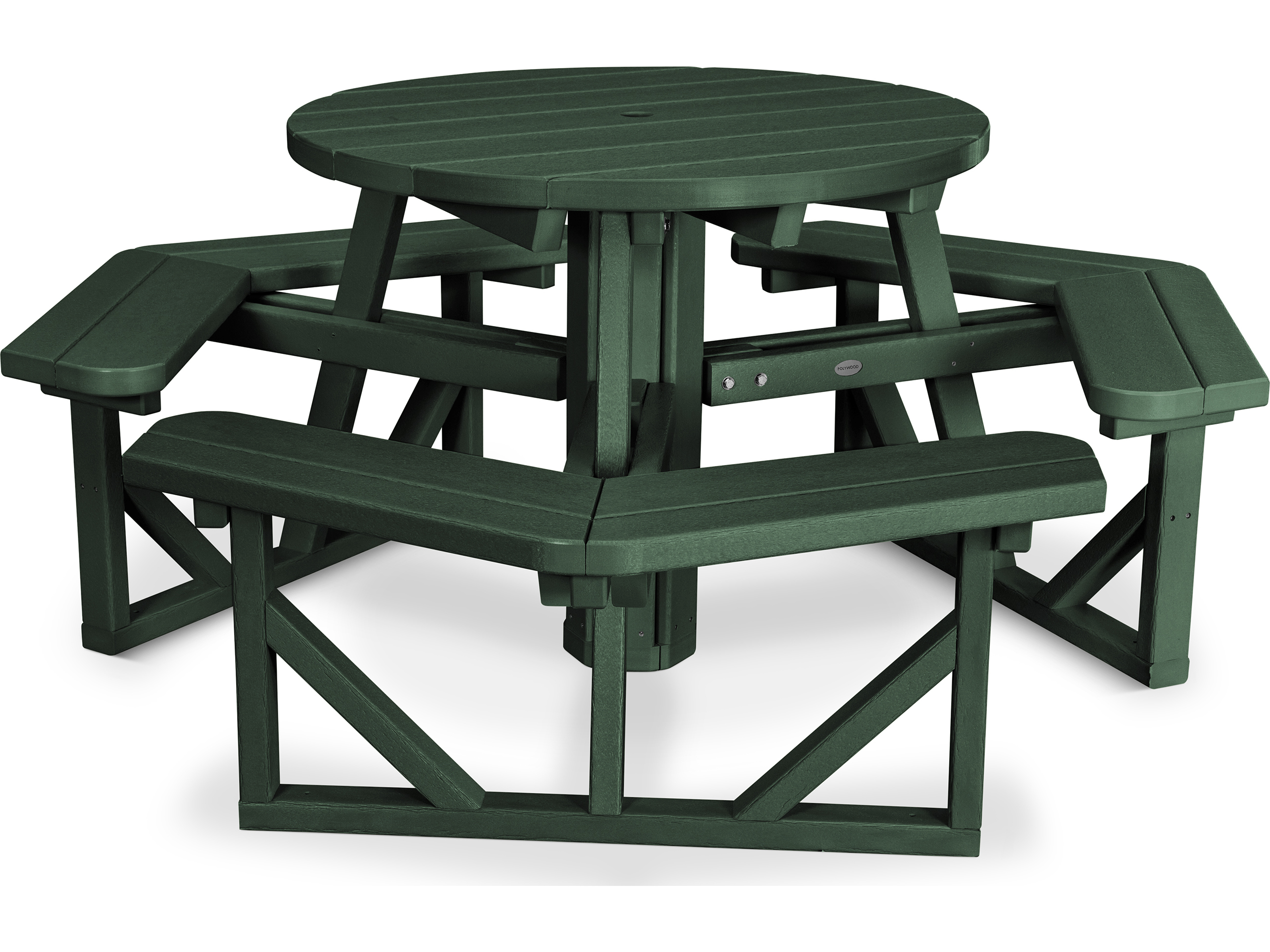 Polywoodr Park Recycled Plastic 36 Round Picnic Table Pwph36