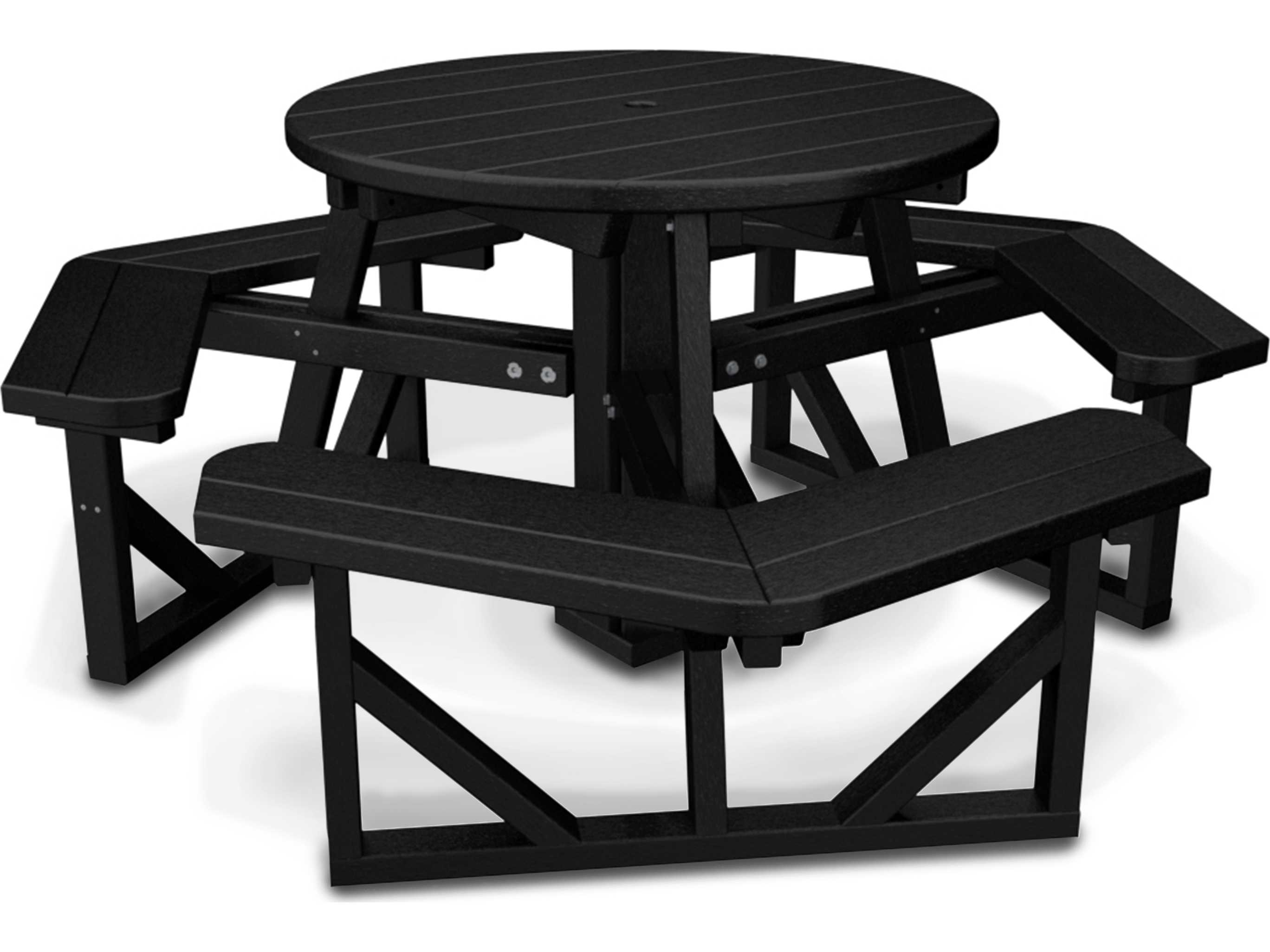 Polywoodr Park Recycled Plastic 36 Round Picnic Table Ph36