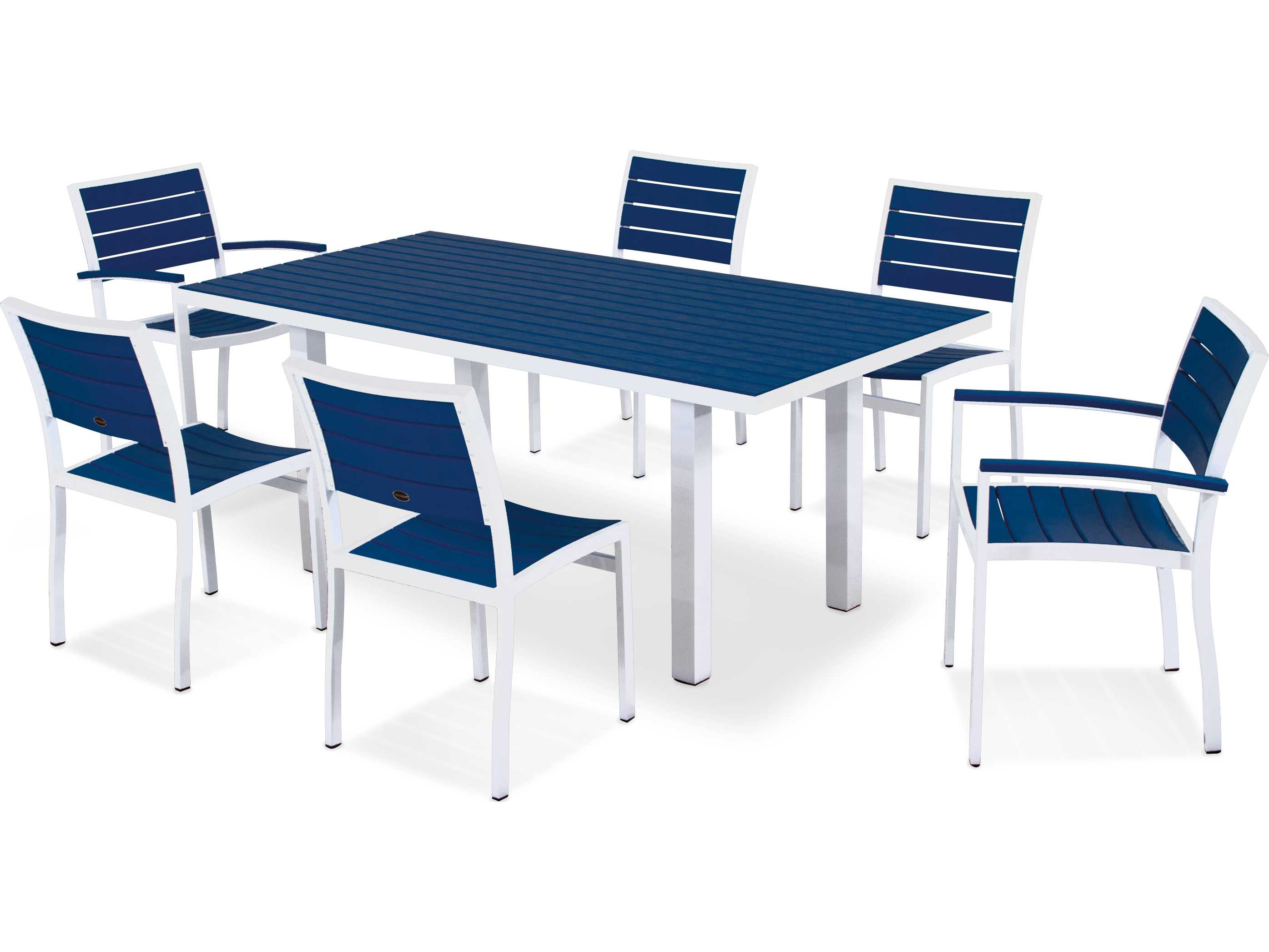 Polywoodr Euro Recycled Plastic 7 Piece Dining Set Pws117 1