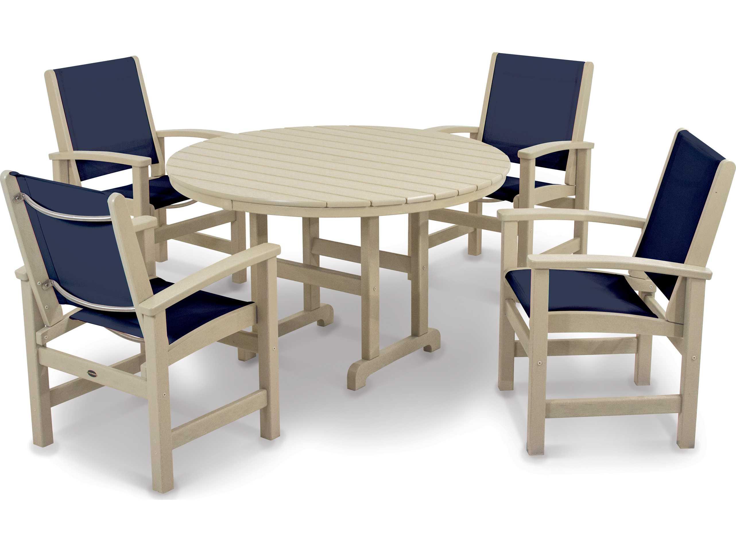 Polywoodr Coastal Recycled Plastic 5 Piece Dining Set