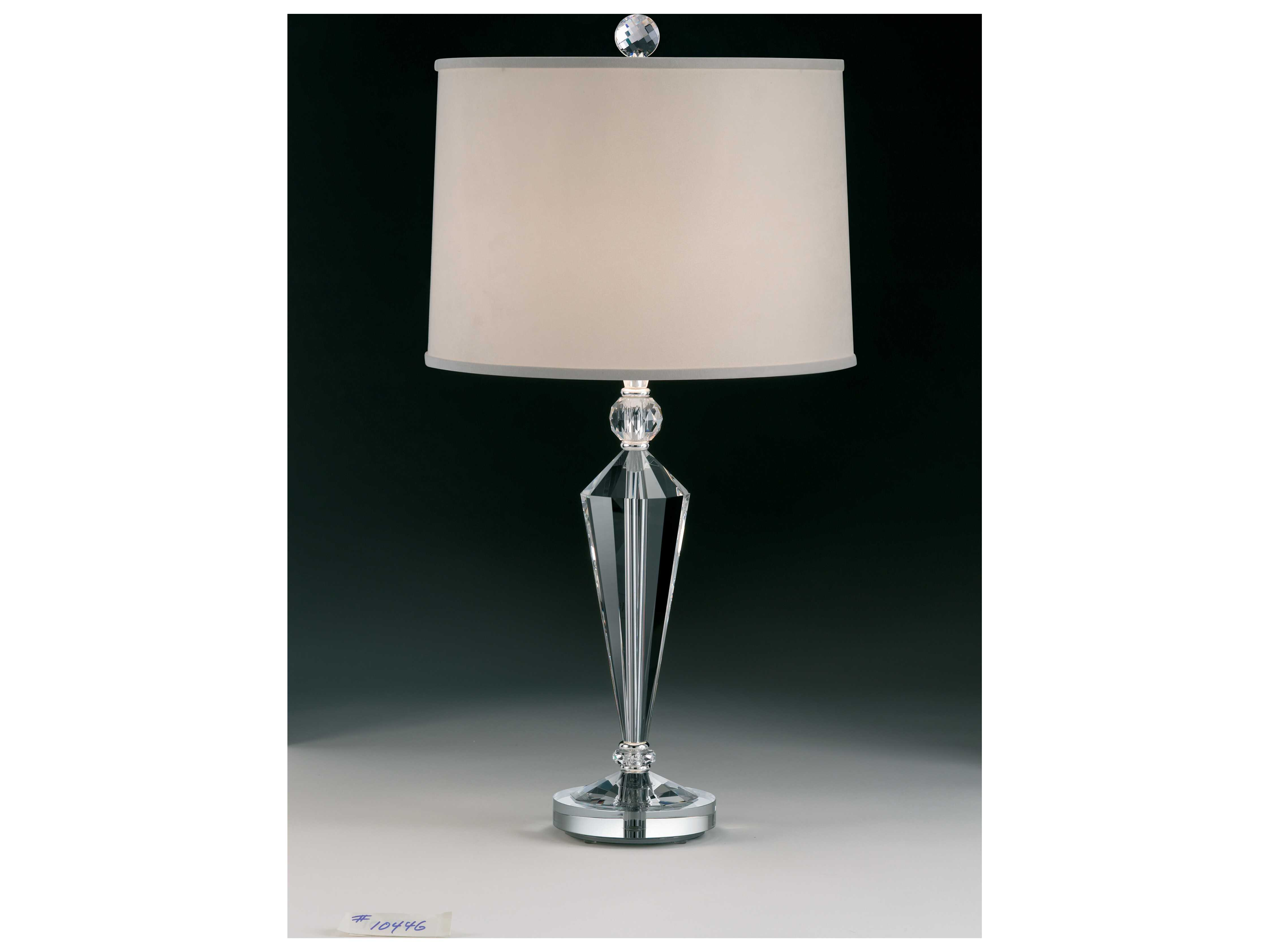 Schonbek Deco Polished Silver Table Lamp 20446