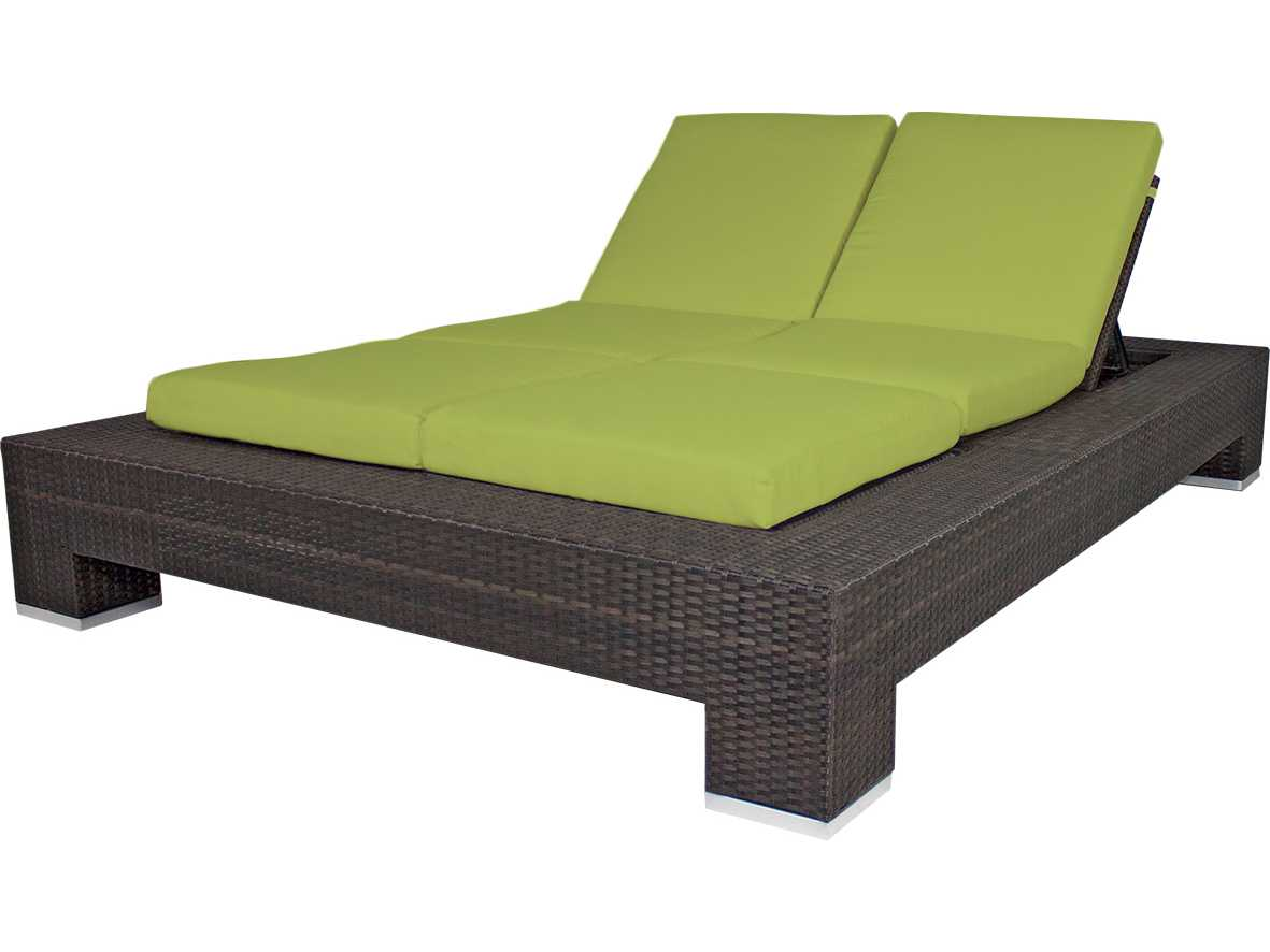 Source Outdoor Furniture King Wicker Armless Double Chaise