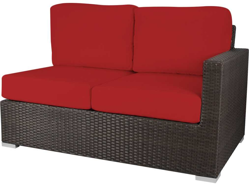 Source Outdoor Furniture Lucaya Wicker Right Arm Loveseat